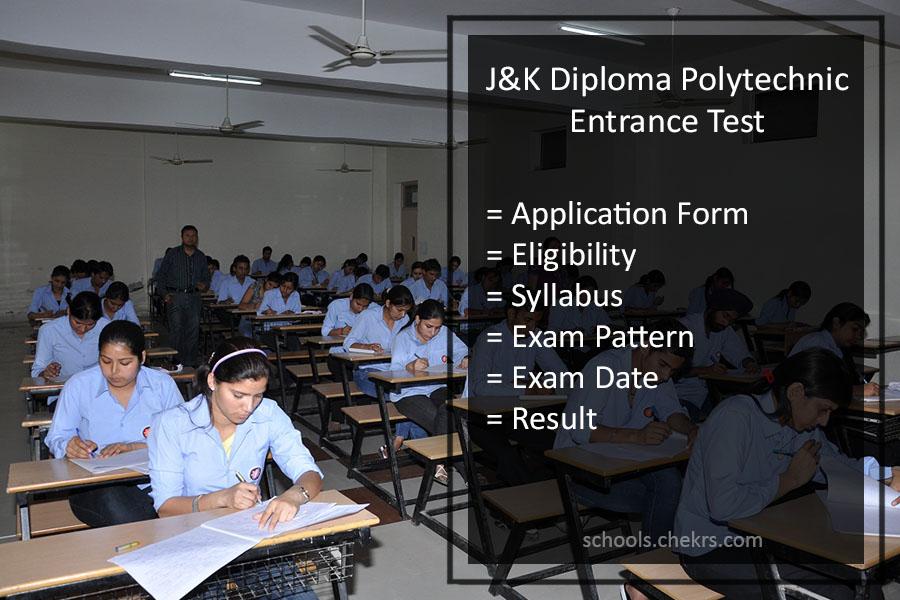 JK Diploma Polytechnic Entrance Test 2017- Details Available