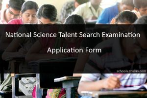 NSTSE 2018 Application Form- National Science Talent Search Examination