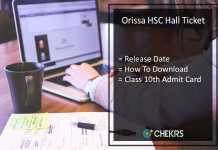Orissa HSC Hall Ticket, Odisha 10th Hall Ticket Release Date