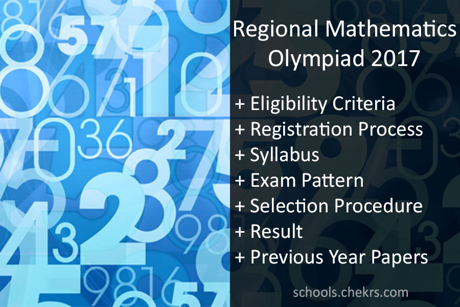Regional Mathematics Olympiad (RMO) 2017 - Registration, Result