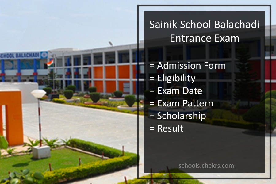Sainik School Balachadi Entrance Examination 2017- Admission Procedure