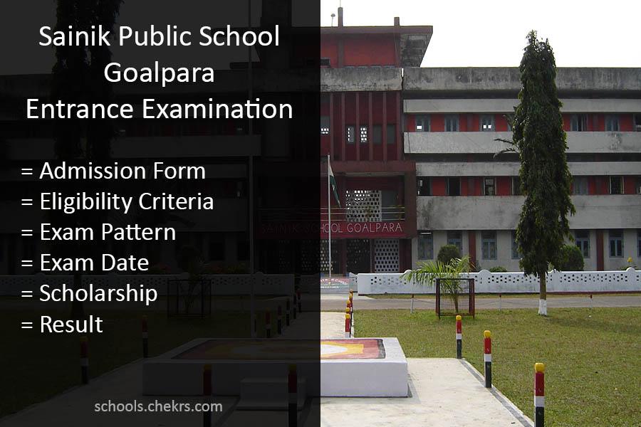 Sainik School Goalpara Entrance Exam Details Available