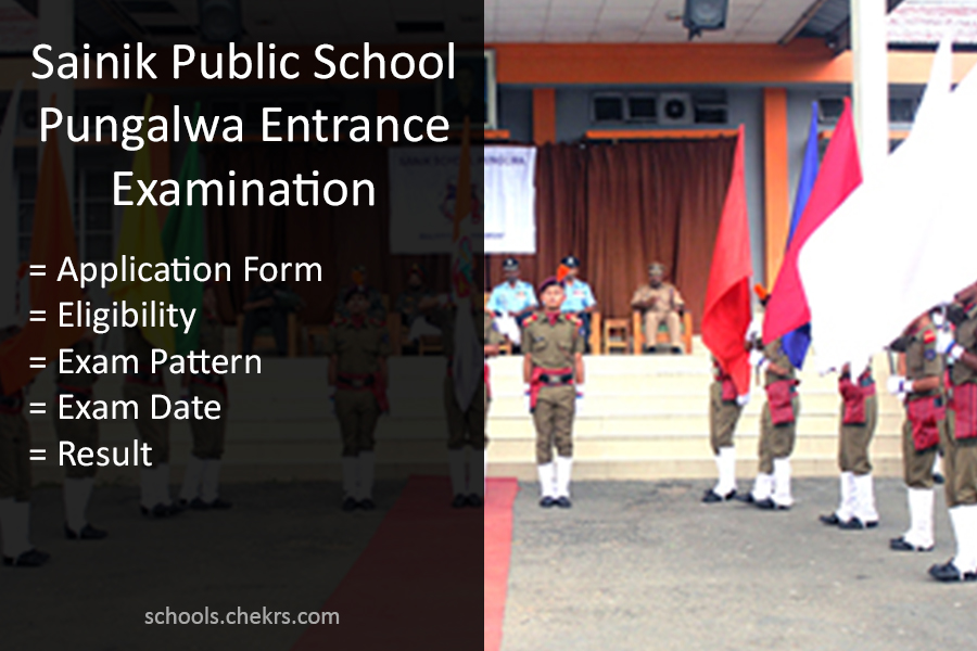 Sainik School Punglwa Entrance Examination Details Available