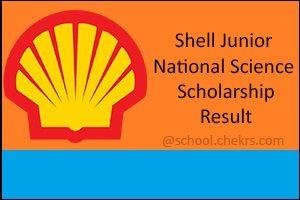 Shell Junior Scholarship (SJNSS) 2017 Syllabus, Test Pattern, Result- Chekrs