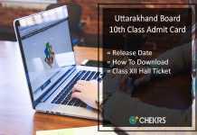 Uttarakhand Board High School Admit Card, UBSE 10th Hall Ticket Release Date