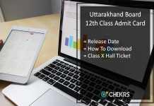 Uttarakhand Intermediate Admit Card, UK Board 12th Hall Ticket Release Date