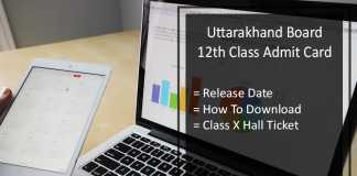 Uttarakhand Intermediate Admit Card, UK Board 12th Hall Ticket Release Date