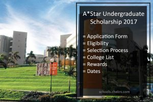 A*Star UG India Youth Scholarships Singapore 2017- Application Form