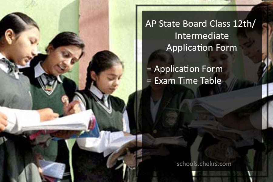AP State Intermediate/ Class 12th Exams - Application Form