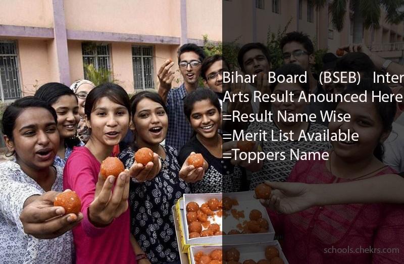 BSEB (Bihar Board) Inter Arts Result 2017, Merit List, Topper Name