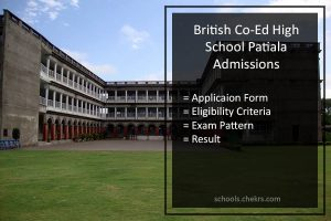 British Co-Ed High School Patiala Admissions 2018- Application Form