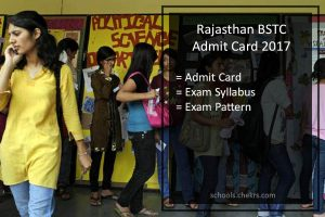 Rajasthan Pre BSTC Admit Card 2017- Hall Ticket Download PDF