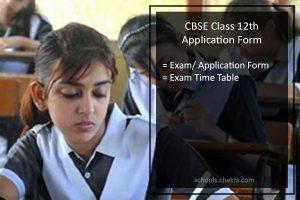 CBSE Class 12th Application Form - Registration Procedure