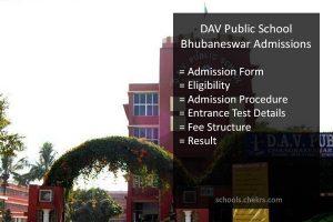 DAV Public School Bhubaneswar Admissions 2017- Form, Fees, Dates