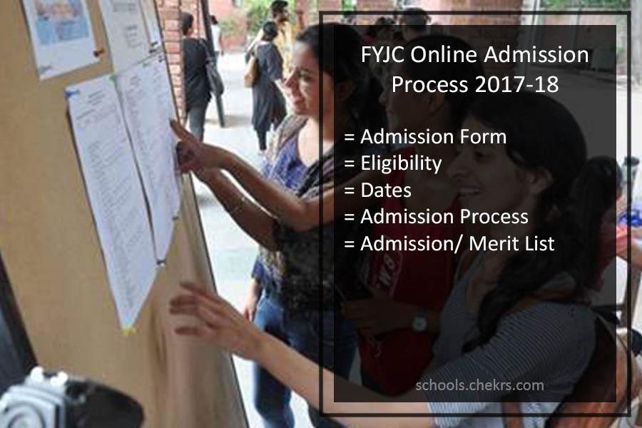 FYJC Online Admission Form 2017-18- Application Process Details