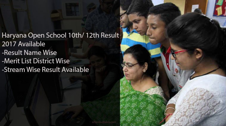 Haryana Open School 10th Result 2017- HOS 12th Arts, Science Results
