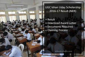ugc ishan uday scholarship result 2016-17 award letter, selected list