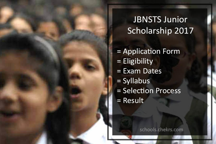 JNBSTS Junior Scholarship 2017 - Selection Process, Syllabus