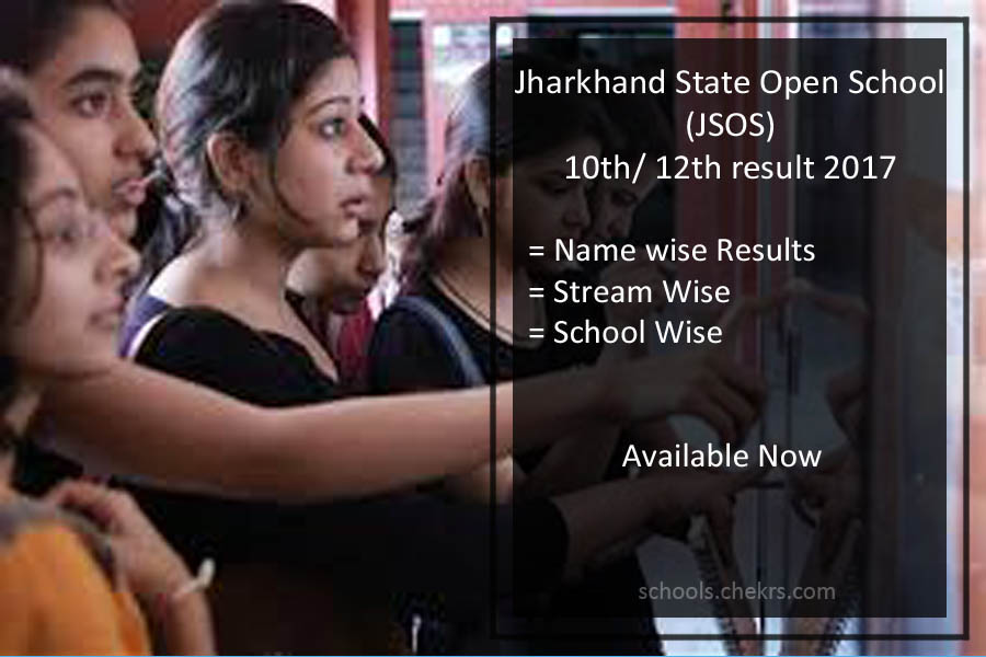 Jharkhand Open School 10th /12th Result 2017- JKSOS Arts, Commerce, Science