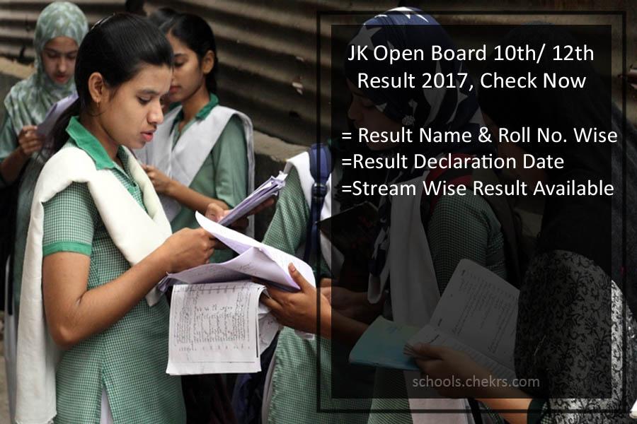 JK Open School 10th Result 2017- JKBOSE Open 12th Arts, Science Result