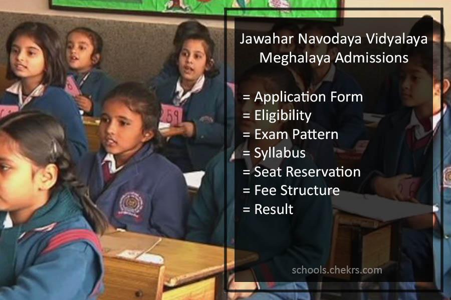 Jawahar Navodaya Vidyalaya (JNV) Meghalaya Admissions 2018