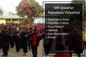 Jawahar Navodaya Vidyalaya MP Entrance Exam 2018- Application Form