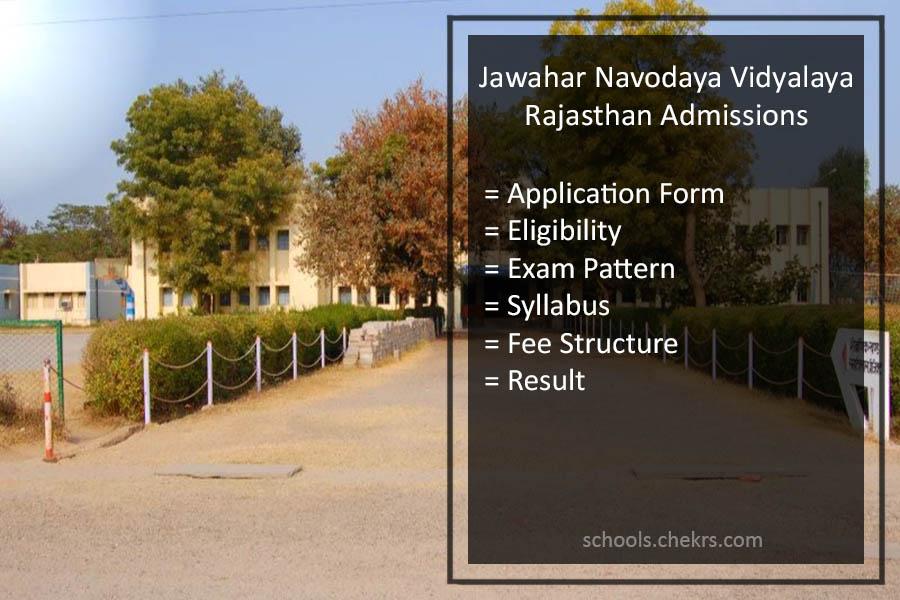 Jawahar Navodaya Vidyalaya Rajasthan Admissions 2018- JNVST