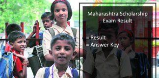 Maharashtra Scholarship Exam Result - Answer Key PDF Download