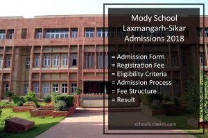Mody School Laxmangarh Admissions 2018- Process, Form, Fees