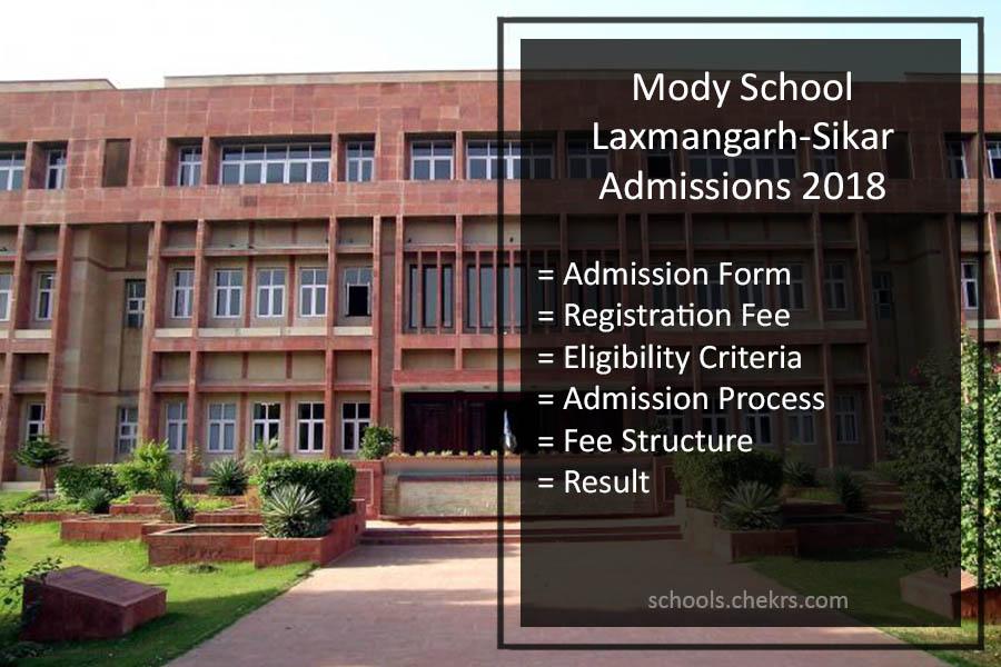 Mody School Laxmangarh Admissions 2018- Process, Form, Fees