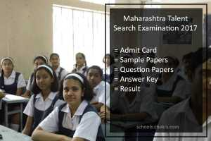 Maharashtra Talent Search Exam (MTSE) 2017- Admit Card PDF