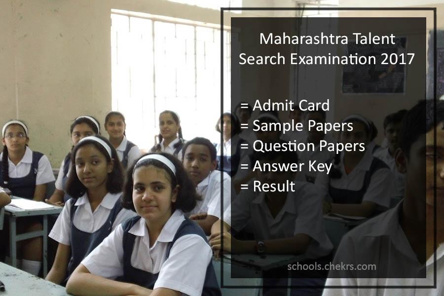Maharashtra Talent Search Exam (MTSE) 2017- Admit Card PDF