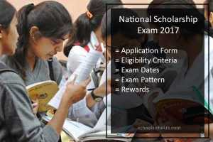 National Scholarship Exam (NSE) 2017- Application Form, Dates