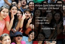 PSEB Open School 10th /12th Result- pseb.ac.in Result Download