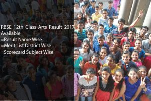 Rajasthan Board (RBSE) 12th Arts Results 2017, BSER Ajmer Board Arts Result