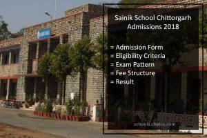 Sainik School Chittorgarh Admissions 2018- AISSEE, Form, Fees