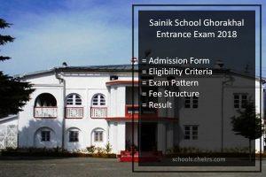 Sainik School Ghorakhal Entrance Exam 2018- Admission Form, Fees