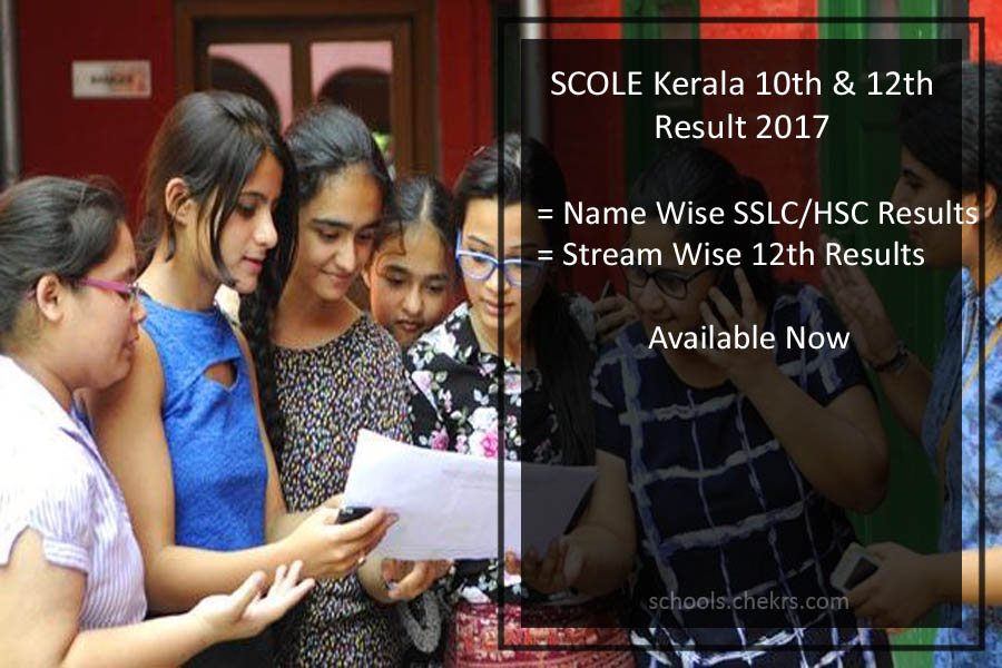 SCOLE Kerala State Open School SSLC/ Plus Two (+2) Results Name Wise