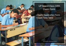 UP Board (UPMSP) Class 10th Exam - Application Form Details