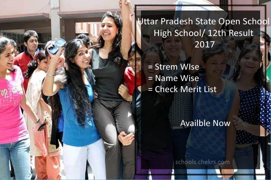 Uttar Pradesh Open School (UPSOS) High School/ 12th Result- upsos.ac.in