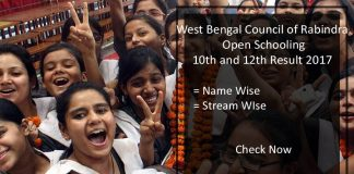 WBCROS Madhyamik /HS Result- Rabindra Open School Results June
