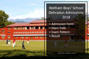 Welham Boys' School Admissions 2018- Form, Dates, Pattern, Fees