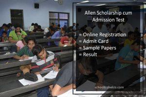 Allen Scholarship Test, ASAT Online Registration @allen.ac.in