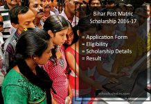 Bihar Scholarship Online Application Form, Status, Post Matric OBC/ SC/ ST/ Minority