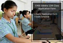 CHSE Odisha 12th Class Application Form, Register @chseodisha.nic.in
