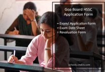 Goa Board HSSC Revaluation Form 2017, Class 12th Rechecking Procedure