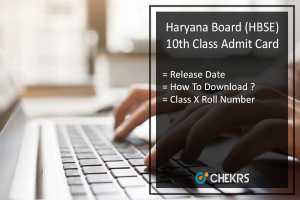 HBSE 10th Admit Card, Haryana Board 10th Roll Number Release Date