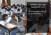 HPBOSE 12th Class Application Form, HP Board Registration