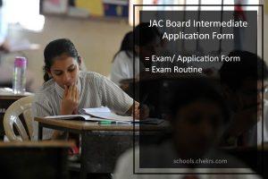 JAC Board Intermediate Application Form Register @jac.nic.in