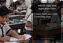 JKBOSE 10th Class Application Form, Register @jkbose.co.in